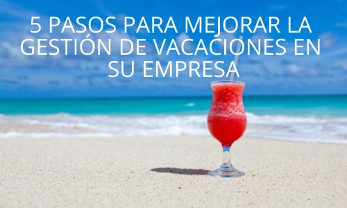 Control vacaciones