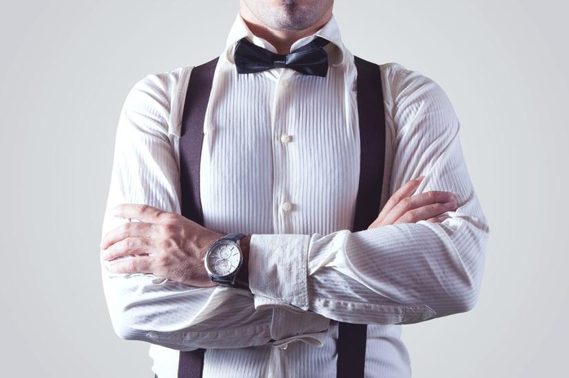 Hombre de negocios control horario
