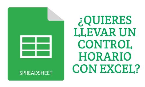 Control horario empleados Excel